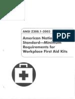ANSI Z308 1-2003