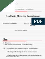 Les Etudes Marketing Inter Nation Ales