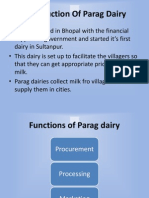 PPT Presentation on Parag Dairy