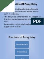 PPT Presentation on Parag Dairy