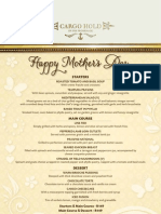 Mothers Day Cargo Menu2012