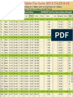 June 2012 Timetable
