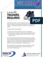 NYY Training - Casual Trainers Required