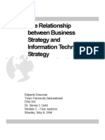 Relationship Between is and Business Strategies