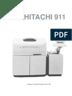 ROCHE Hitachi 911 User Manual