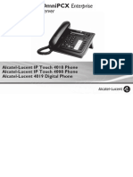 ENT PHONES IPTouch-4008-4018-4019Digital-OXEnterprise Manual 0907 PT