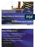 Exchange Server 2007 Overview