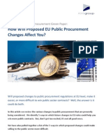How Will Proposed EU Public Procurement Changes Affect You?
