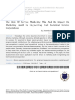 10 the Role of Service Marketing Mix and Its