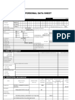 Personal Data Sheet, Blank (6'21'10)