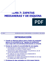 Tema 07 - Zapatas Median Eras y de Esquina