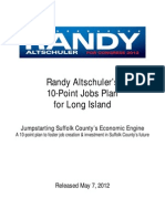 Randy Altschuler's 10-Point Jobs Plan for Long Island