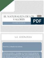 III. Los Valores