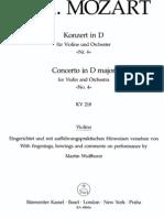 Mozart - Violin Concerto No.4 in D Major KV218 (Barenreiter)_Vln