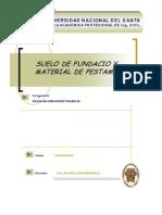 SUELO DE FUNDACIÓN Y MATERIAL DE PRESTAMO