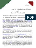 PR-Escritório Virtual do Avila Business Centers recebe prémio CIO Awards 230412