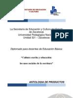 ANTOLOGIA DE PRODUCCIONES
