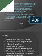 Leziuni parodontale