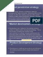 Ansoff's Product-Market Expansion Grid