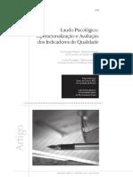 Laudo Psicologico - Operacionalizacao e Avaliacao Dos Indicadores de Qualidade