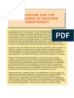 Augustine and the Emergence of Western Christianity