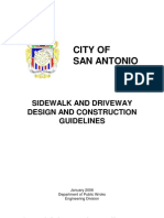 Sidewalk and Driveway Guidelines 2006