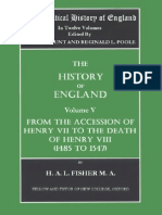 The Political History of England. Vol 5 Fisher, H.a. (Vol. v. 1485 to 1547) From the Accession of Henry VII to the Death of Henry VIII