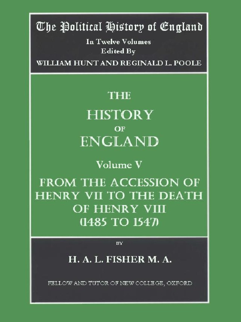 The Political History of England  Vol 5 Fisher, H a  (Vol  v  1485
