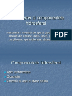 Apele Terrei Si Componentele Hidrosferei