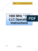 1900 MHz (1U) LLC Operating Instructions V1.0