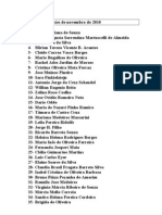 Fichas de Pacientes de Novembro de 2010