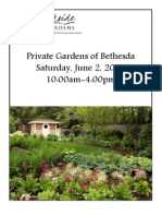 Private Gardens of Bethesda Tour 2012