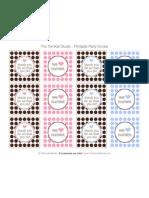 Nurse Party Circles - Pink Blue Brown - Tomkat Studio