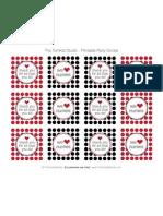 Medical Party Circles - Black White Red - Tomkat Studio