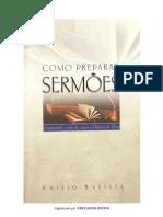 Como Preparar Sermões - Anísio Batista Dantas