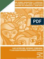 Las Leyes del Estado Comunal y las Elecciones Parlamentarias