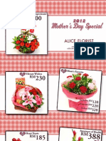 Alice Florist Mother's Day 2012 Catalog