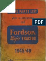 Fordson Major Parts Manual