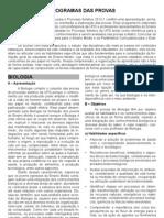 Ps 2013 Programas Das Provas