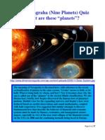 Navagraha (Nine Planets) Quiz