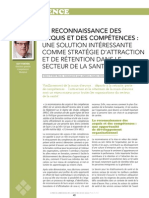 Article sur la RAC dans la revue Le Point en administration de la santé et des services sociaux