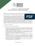 Informe Especial Identidad de género 2012