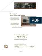 Revenue Status Report FY 2011-2012-General Fund
