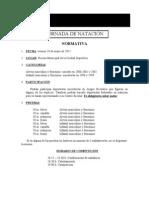 Normativa de natación 2012