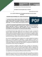 BOLETÍN DE PRENSA 07-2012