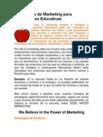 Estrategias de Marketing Para Instituciones Educativas