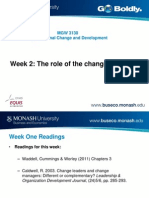 Week 2 the Role of the Change Agent JR