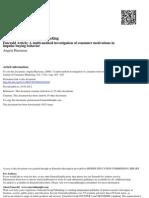 A Multi-method Investigation of Consumer Motivations in Impulsive Buying Behavior