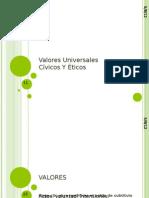 Valores Universales Civicos y Eticos