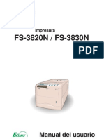 Manual de Usuario FS-3820